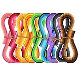 Quilling Papier Set 1 080 Stück Quilling Kunst Streifen, 44 Farben, 5 mm Breite und 54 cm Länge