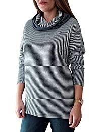 8e60b37a212ad The Bow Attitude® Sweatshirt Damen Langarm Rundhals Oslo 2-in-1 Oversized  Long Pulli Pullover mit abnehmbarem…