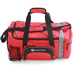"""EXCELENTE :: Bolsa de deporte Premium """"Sporty Bag"""" de Sportastisch :: Con compartimento para zapatillas, correa para el hombro y bolsillo para caramañolas"""
