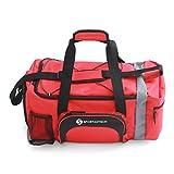 """EXCELENTE: :: Bolsa de deporte Premium """"Sporty Bag"""" de Sportastisch :: Con compartimento para zapatillas, correa para el hombro y bolsillo para caramañolas … (rojo)"""