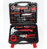 Werkzeugkoffer 47 Stück, 2 In 1 Auto Und Hause Kombination Toolbox Auto Notfall Tool Kit Carbon Stahl Hardware Werkzeugkästen Handwerkzeuge