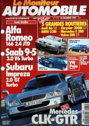 moniteur-automobile-le-no-1175-du-24-12-1998-essais-5-grandes-routieres-alfa-romeo-saab-9-5-subaru-i