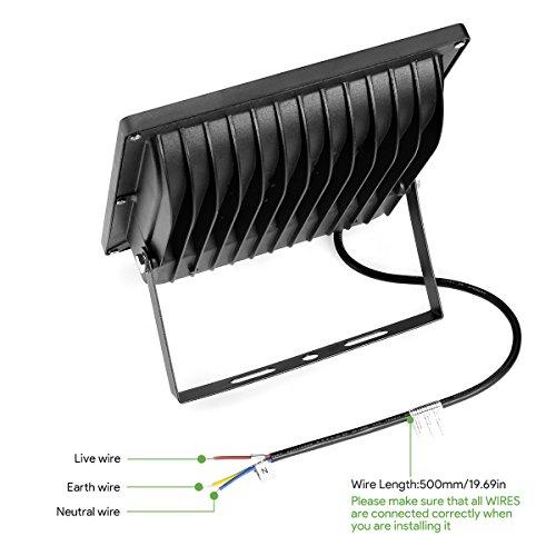 LE-Foco-LED-30W-75W-SAP-Blanco-Fro-Resistente-al-Agua-IP65-Exteriores-Interiores