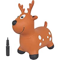 Toy House Bouncy Horse Hopper Inflatable Jumping Deer, Ride On Rubber Bouncing Animal Toys for Kids Toddlers Boys and…