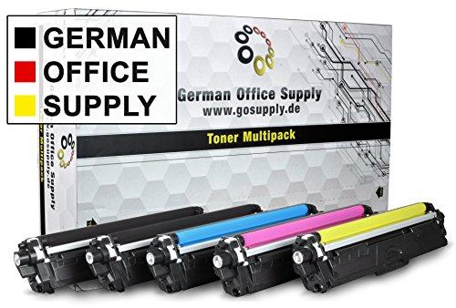 Brother Toner 5er Set von German Office Supply - kompatibel zu Brother TN 241 TN 245 MFC 9142CDN DCP 9022 CDW MFC 9342 CDW MFC 9332 CDW, HL 3150 CDW, HL 3170 CDW TN 241BK TN 245C TN 245M TN 245Y