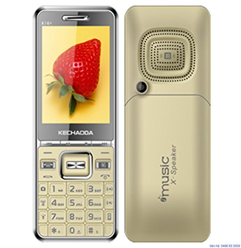 Kechaoda K16 Champagne Mobile 2.8 inch TFT Display phone Dual SIM cell Dual Standby Keypad Cellphone with GPRS chinese phone Whatsapp Facebook Twitter Mp3 Mp4 Camera Tflash Card FM radio TV option One Keypad recorder china phone Big Battery ( Champagne)