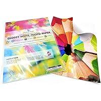 10en blanco hojas A4autoadhesivo Papel fotográfico brillante blanco/parte trasera adhesiva etiqueta impresión hoja de papel resistente al agua