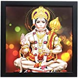 Printelligent Exclusive Framed Wall Art Paintings Of Lord Hanuman For Living Room Bedroom And Decoration Purpose Frame Size (12 Inch X 12 Inch, (Synthetic, 30 Cm X 3 Cm X 30 Cm, Special Effect Textured)