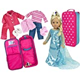 Doll Clothing Set For 18 In Dolls With Clothing And Doll Carrier Backpack Suitcase | Complete 12 Pc Set By Sophia's