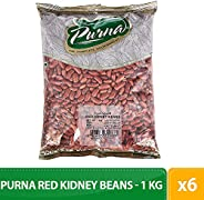 Purna Red Kidney Beans - 1 kg(Pack of 6)