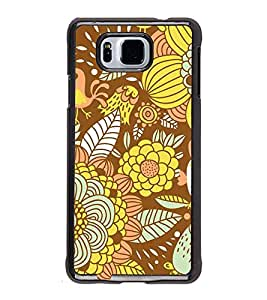 Fuson Floral Fruits Designer Back Case Cover for Samsung Galaxy Alpha :: Samsung Galaxy Alpha S801 :: Samsung Galaxy Alpha G850F G850T G850M G850Fq G850Y G850A G850W G8508S :: Samsung Galaxy Alfa (Ethnic Pattern Patterns Floral Decorative Abstact Love Lovely Beauty)