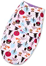 Baby Bucket Baby Swaddle Wrap Soft Envelope For Newborn (Purple Owl)