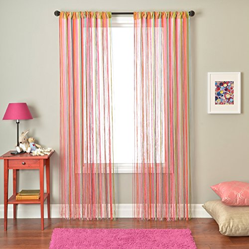 Softline Home Fashions Jazz Saite Sheer Deko Fenster Panel/Behandlung mit Stab Pocket, Multi Colors, 55 Inches x 96 Inches