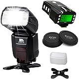 Pixel x800C Pro Kit de flash Speedlite pour Canon DSLR - [1* x800 C Pro ETTL Flash Speedlite] + [1 * KING Pro Déclencheur Flash transeiver] + [1* Canon Bouchon d'objectif arrière] et accessoires