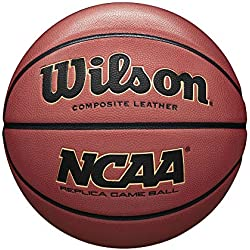 Wilson, Ballon de Basketball, NCAA Replica Comp, Orange, Taille : 7, Similicuir, intérieur et extérieur, WTB0730