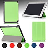 Ultra Slim For TOSHIBA Encore® 2 Write WT10PE-A264 Windows Tablet 10.1-inch Magnetic closure Luxury QUALITY PU LEATHER PROTECTIVE CASE, COVER, STAND with Hard Shell! GREEN