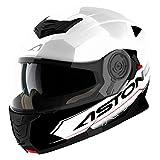 Astone Helmets Klapphelm Touring, Weiß/Schwarz, S