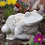 MW Handel Gartendekoration Frosch Tiere Figur Keramik Garten