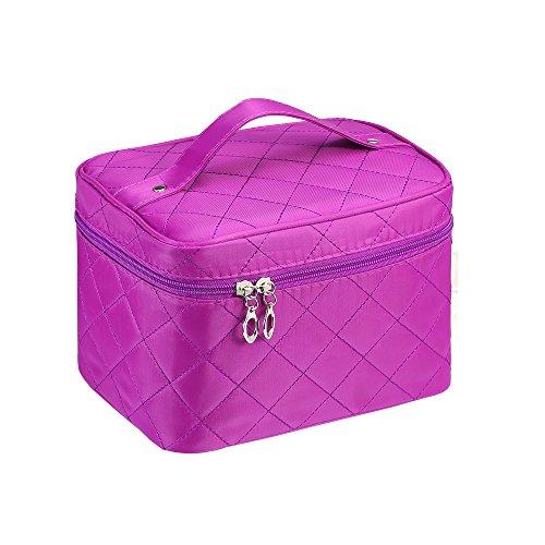 Kulturtaschen, GETALL Portable Travel Bag große Kapazität wasserdicht Multifunktions Tasche Make-up Organizer Kosmetiktasche (Kleine lila) (Bulk Großhandel Make Up)