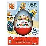Œuf géant Kinder Surprise, 100 g (idéal comme œuf de Pâques), édition limitée - Œuf au chocolat Minions et jouet