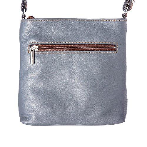 klein Schulter und Crossbody-Tasche 8685 Grau-brau