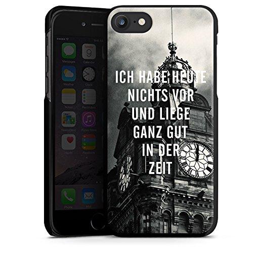 Apple iPhone X Silikon Hülle Case Schutzhülle Zeit Sprüche Faulheit Hard Case schwarz