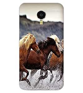 ColourCraft Amazing Horses Design Back Case Cover for MEIZU M3 NOTE