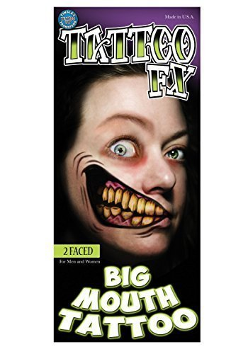 Tinsley FX Aufkleber 2 Konfrontiert Halloween Groß Mund (Infamous Kostüme)