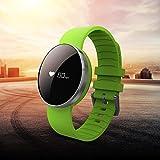 Fitness Tracker, Protea Pedometro da Polso Contapassi Heart Rate Moniter Bluetooth Orologio Braccialetto Band Watch Notifiche per Android iOS Verde