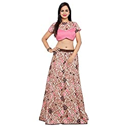 Triveni Silk Lehenga Choli (XTSKT13310_Brown_Free Size )