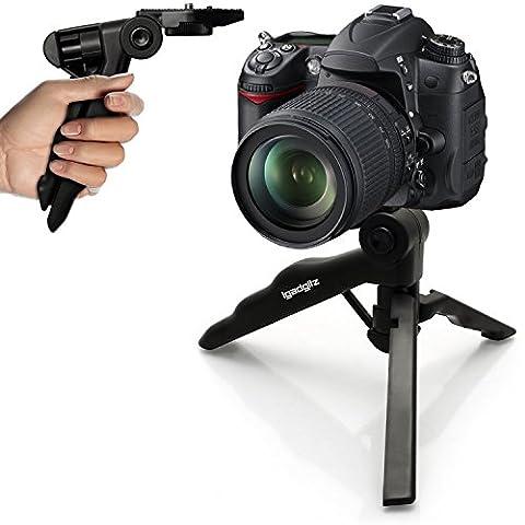 igadgitz 2-in-1 Pistolengriff Stabilisator Kompaktes Mini-Tischstativ für Sony E-Mount Cameras