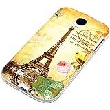 deinPhone Samsung Galaxy S4 SILIKON CASE Hülle Eiffelturm Rosa Blume