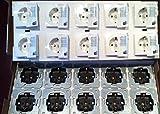 Steckdose 1f polws mt S.1/B.3/B.7 UP IP20 ZP horiz/vert Zentralpl 47431909