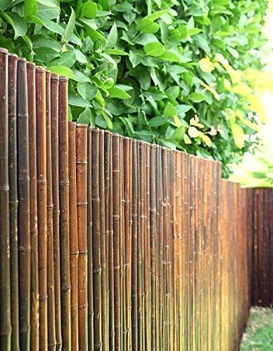 DE-COmmerce Robusto Legno bambù Vista Protezione Steccato Aty Nigra i Alta qualità Frangivento Terrazza, Balcone, Giardino i Canna bambù Steccato con Geschlossenen Tubi - Multicolore, 120 cm x 250 cm