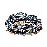 Kimruida New Multilayer Frauen Bohemian Charm Anhänger Perlen Armband Schmuck Armreif Geschenk