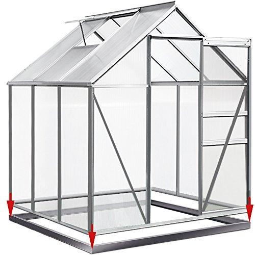 Deuba Fundament verzinkt für Gewächshaus 190x190cm Stahlfundament Treibhaus