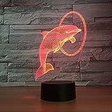 Goney 3D Nachtlicht Kreative Odd Led Eye Dolphin Geschenk Licht Tischlampe Für Schlafzimmer/Küche/Wohnzimmer/Cafe (Farbe : Touch)