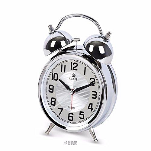 Kreative mode Metall läutenden Glocke ruhig Bell bed Bell sound 17,2* 5,4* 12,4 cm, silber