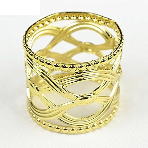 Panno del cerchio d'oro e d'argento/ hollow buhuan/Anello di tovagliolo-B