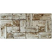 Paneles Decorativos de PVC, Troncos de Pino Claro, Revestimiento de Pared de imitación de