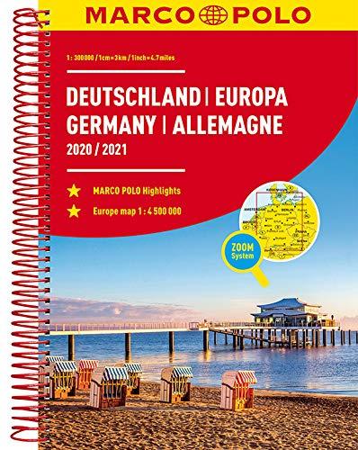 MARCO POLO Reiseatlas Deutschland 2020/2021 1:300 000, Europa 1:4 500 000 (MARCO POLO Reiseatlanten)
