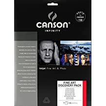 Canson infinity Discovery Pack Fine Art 200004876 - Papel fotográfico (A4, 9 hojas), color blanco