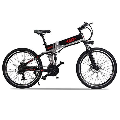 Bicicleta Electrica 48V 500W Bicicleta de Montaña 21 Velocidades 26 Pulgadas con Batería de Litio Extraíble de Nueva Energía