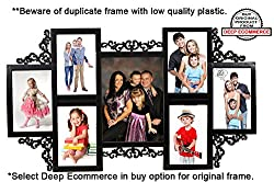 Designer 7 in 1 Photo Frame Black (5.5x 3.5 inch- 6 & 5x7 inch-1)