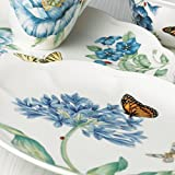 Lenox Speiseteller, Schmetterlingswiese, Blau Dekoteller 13.5
