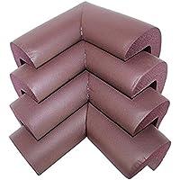 Preisvergleich für yter Weich Tisch Schreibtisch Möbel Ecke Kissen Guard Protectors Edge Cover für Baby Kind (braun)