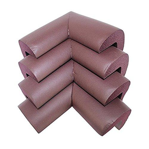 AHIMITSU Soft Safe Table Desk Furniture Corner Cushion Guard Protezioni Edge Cover per Bambino, Baby (Marrone)