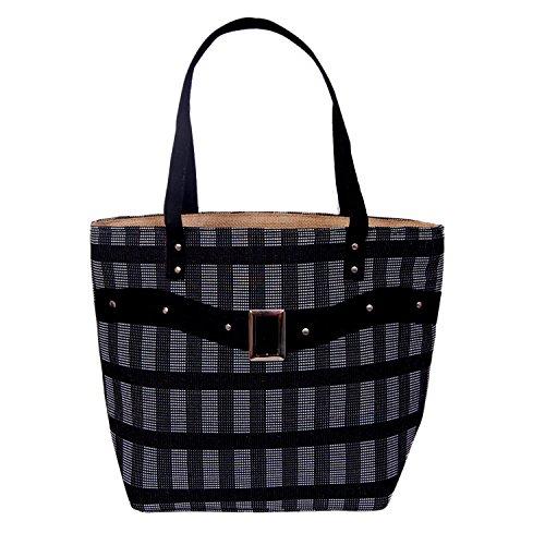 Womaniya Women's Handbag Black Woman-1151