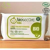 Lingettes nettoyantes coton 100% bio et biodégradable 50 lingettes