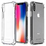 Coque iPhone X, Jenuos Transparent Doux Souple Extrêmement Fin Housse TPU Silicone Etui pour iPhone X / iPhone 10 (5.8')- Transparent (IX-TPU-CL)